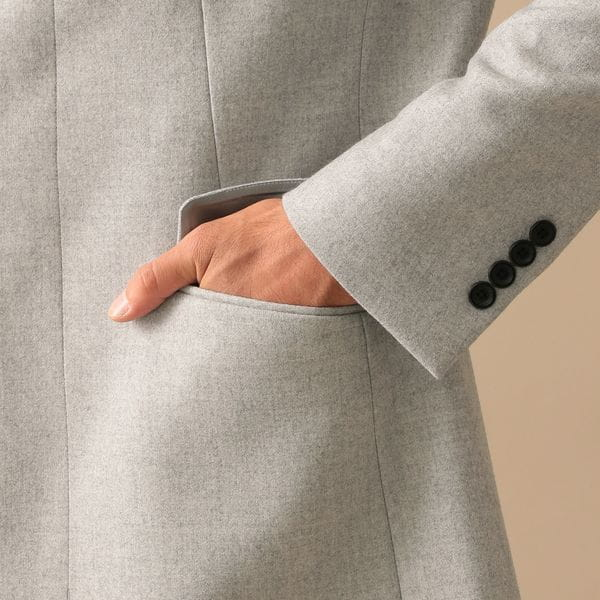 スタンドカラーウールコート