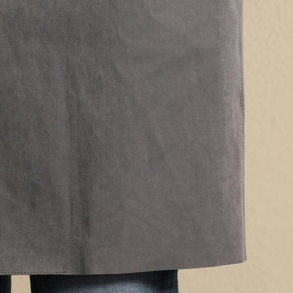 ダメージテクノスエード ステンカラーコート