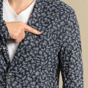 ジャージープリント 羽織ジャケット