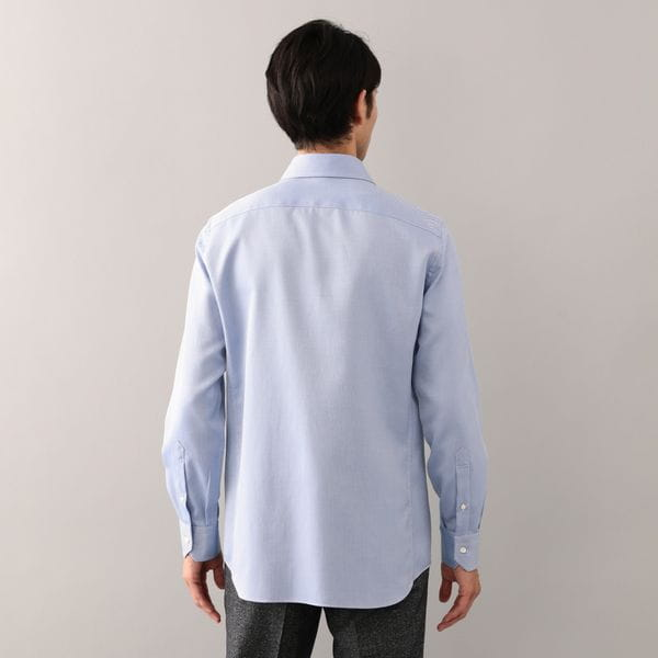 ALBINI鹿の子セミワイドシャツ