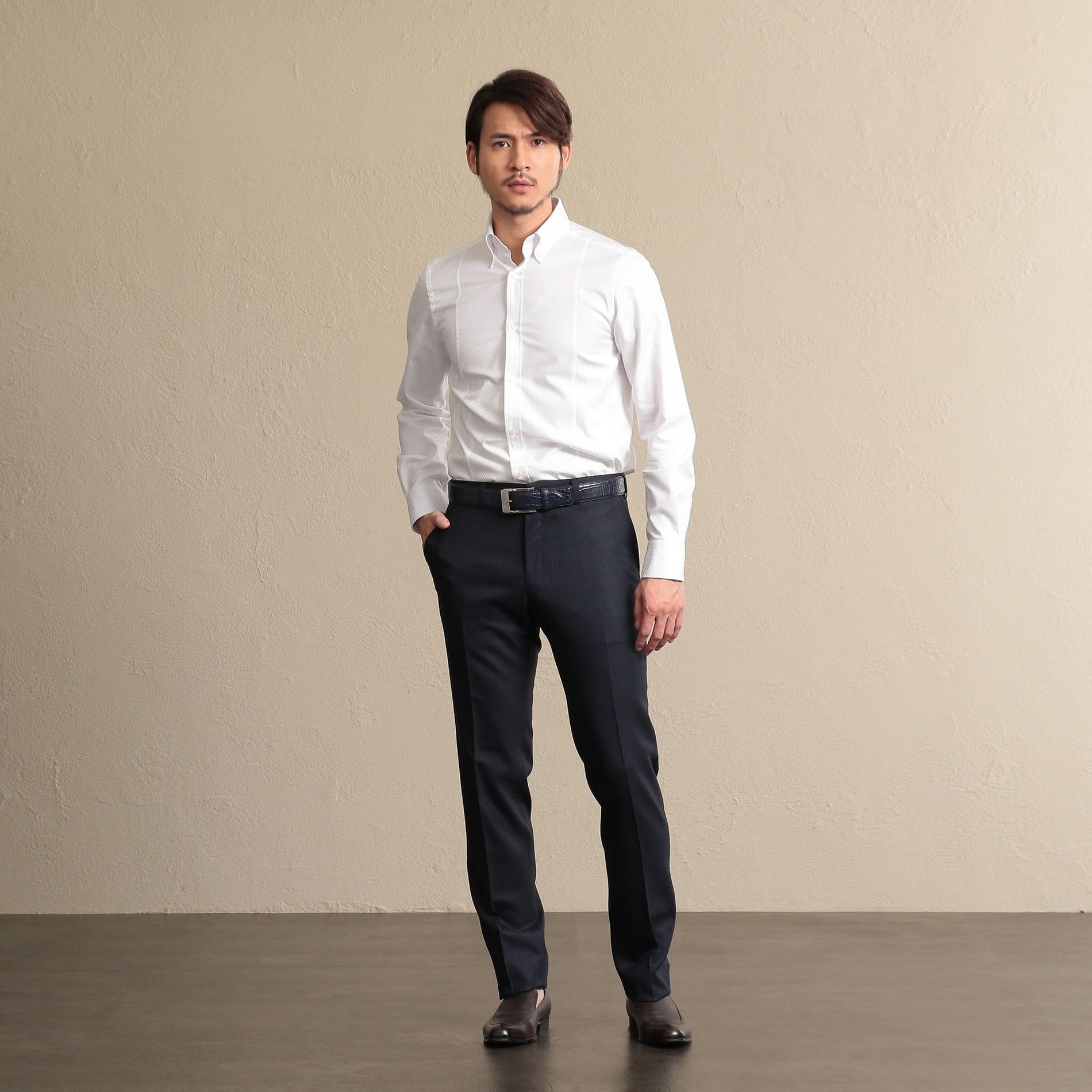 【ALBINI】ボタンダウンカラーシャツ