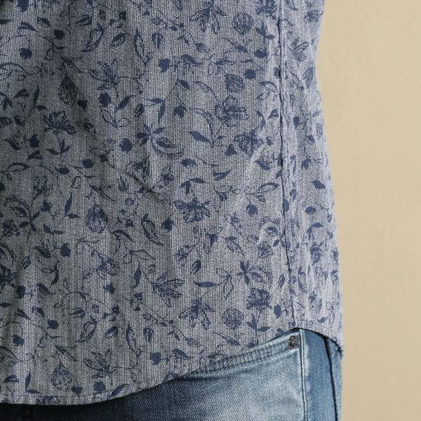 コーデュロイホリゾンタルカラーシャツ