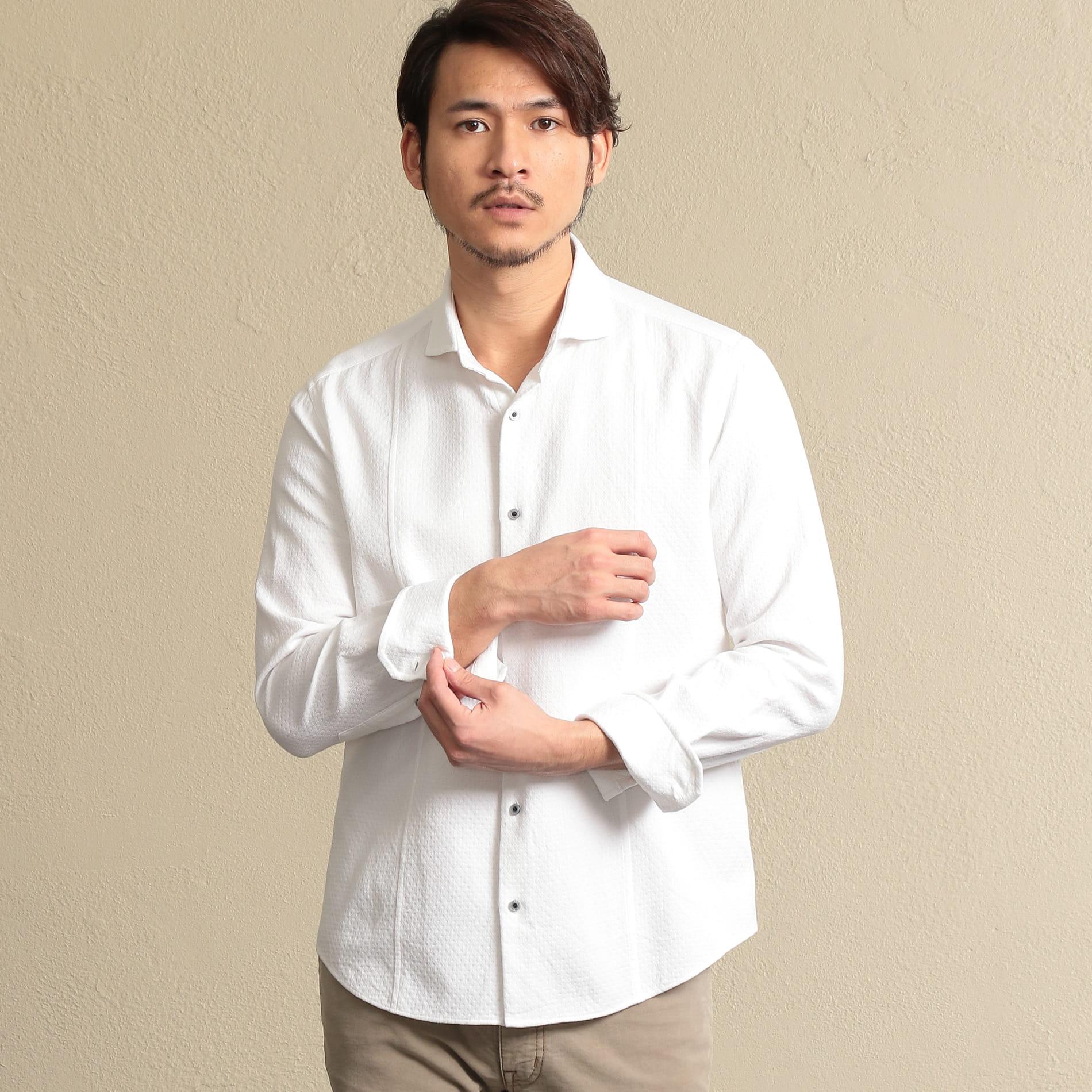 ホリゾンタルカラードビーシャツ