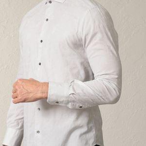 フラワーカットジャカードシャツ