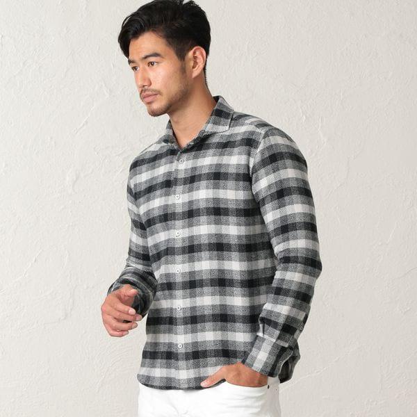 ホリゾンタルカラーチェックシャツ