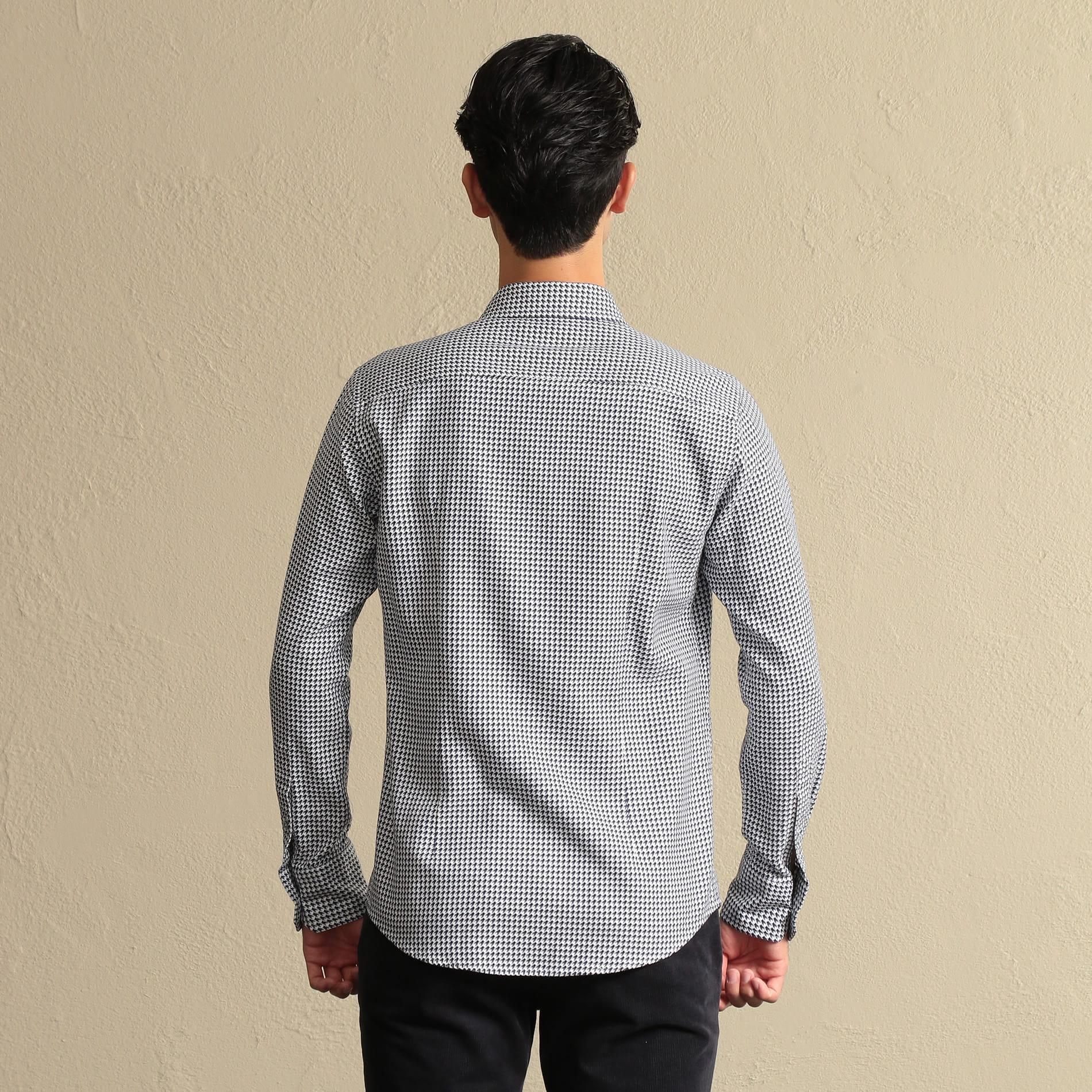 オックス千鳥ホリゾンタルカラーシャツ