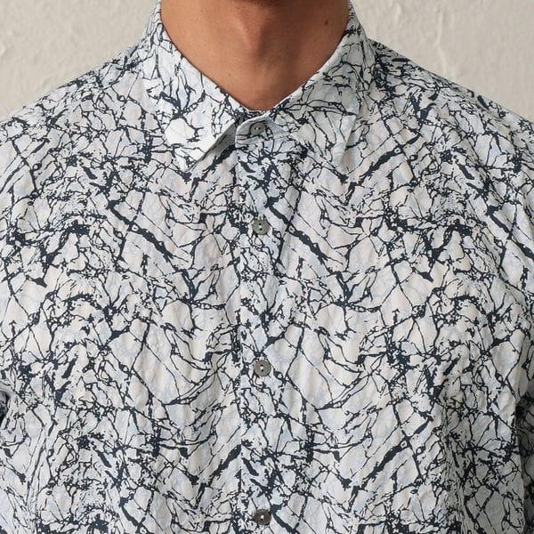 リップルプリントシャツ