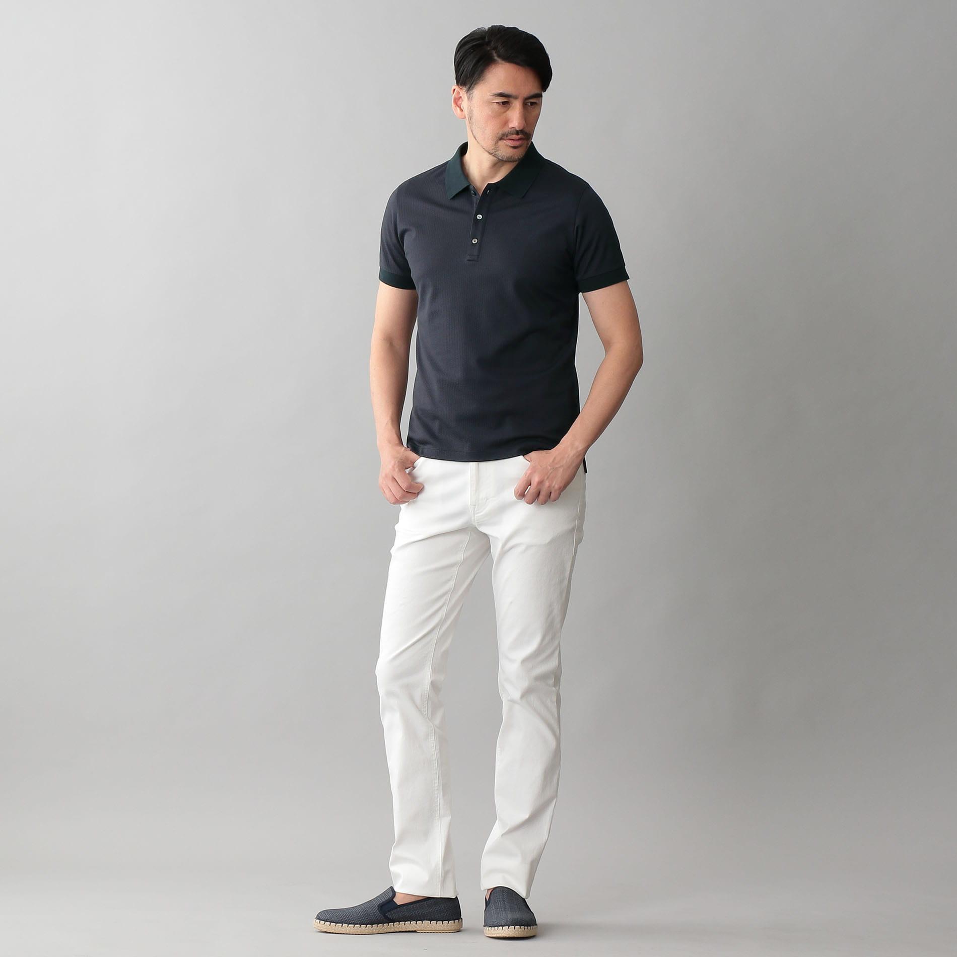 立体ジャカード ポロシャツ