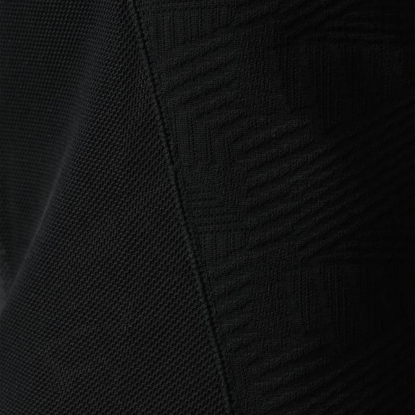 【ATTIVO】ジオメトリックジャカードポロシャツ