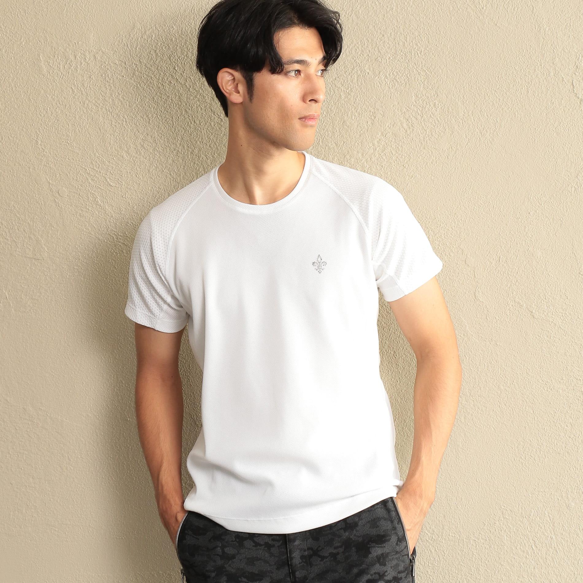 【SPORTY LINE】*Safari10月号掲載*ワンポイントクルーネックTシャツ
