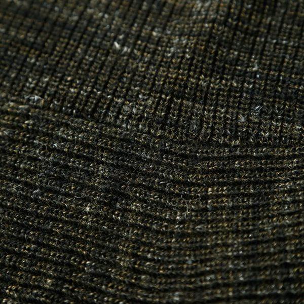 【La maglia】かすり調ニットカーディガン