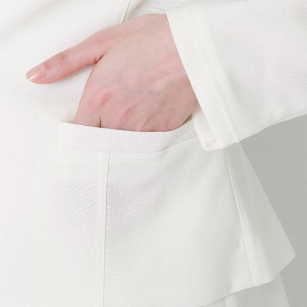 ストレッチクロス ノーカラージャケット