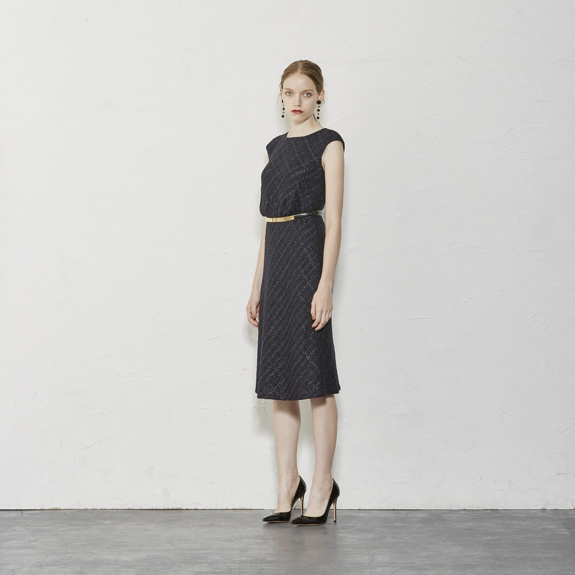 アートテープツイード ドレス