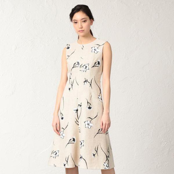 フィオーレピグメントプリント ドレス