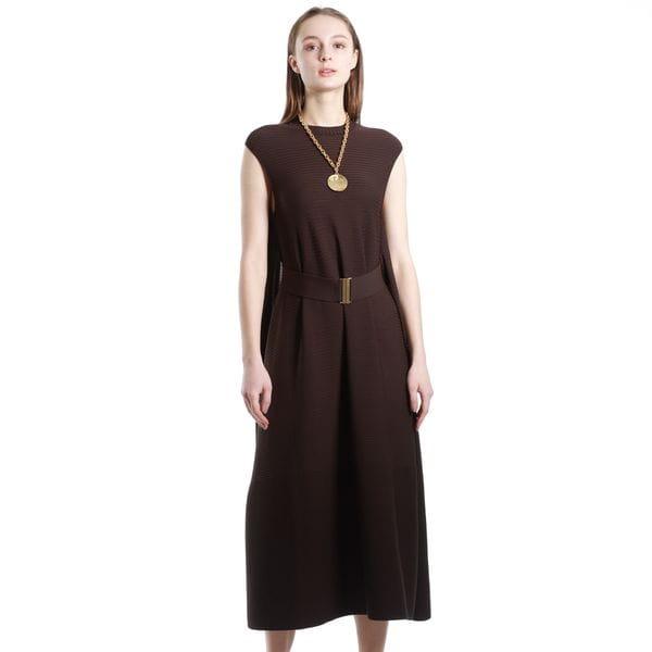 【La maglia】ベルト付きフレアドレス