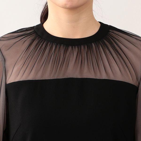 バックサテンジョーゼット ドレス