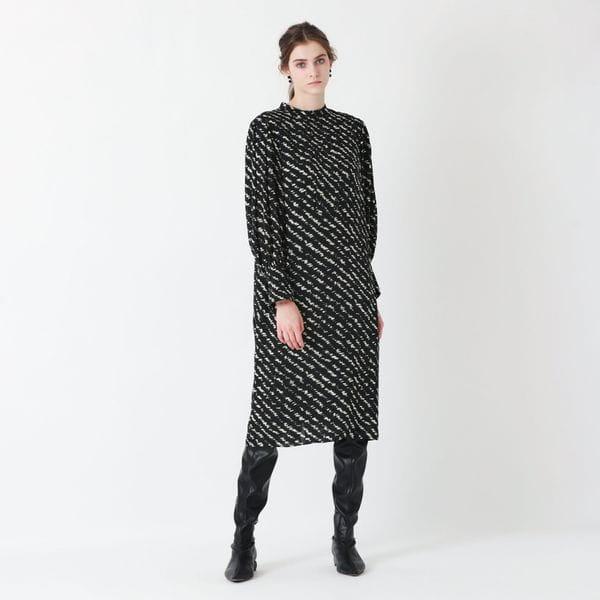 ジオメトリックプリント ドレス