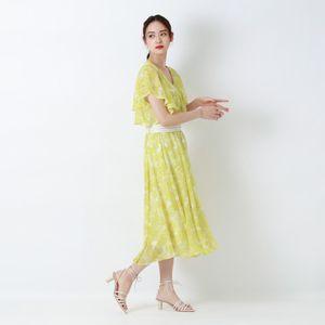 シトラスプリント ドレス