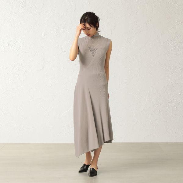 *Marisol10月号掲載* 【La Maglia】アシンメトリーニットドレス