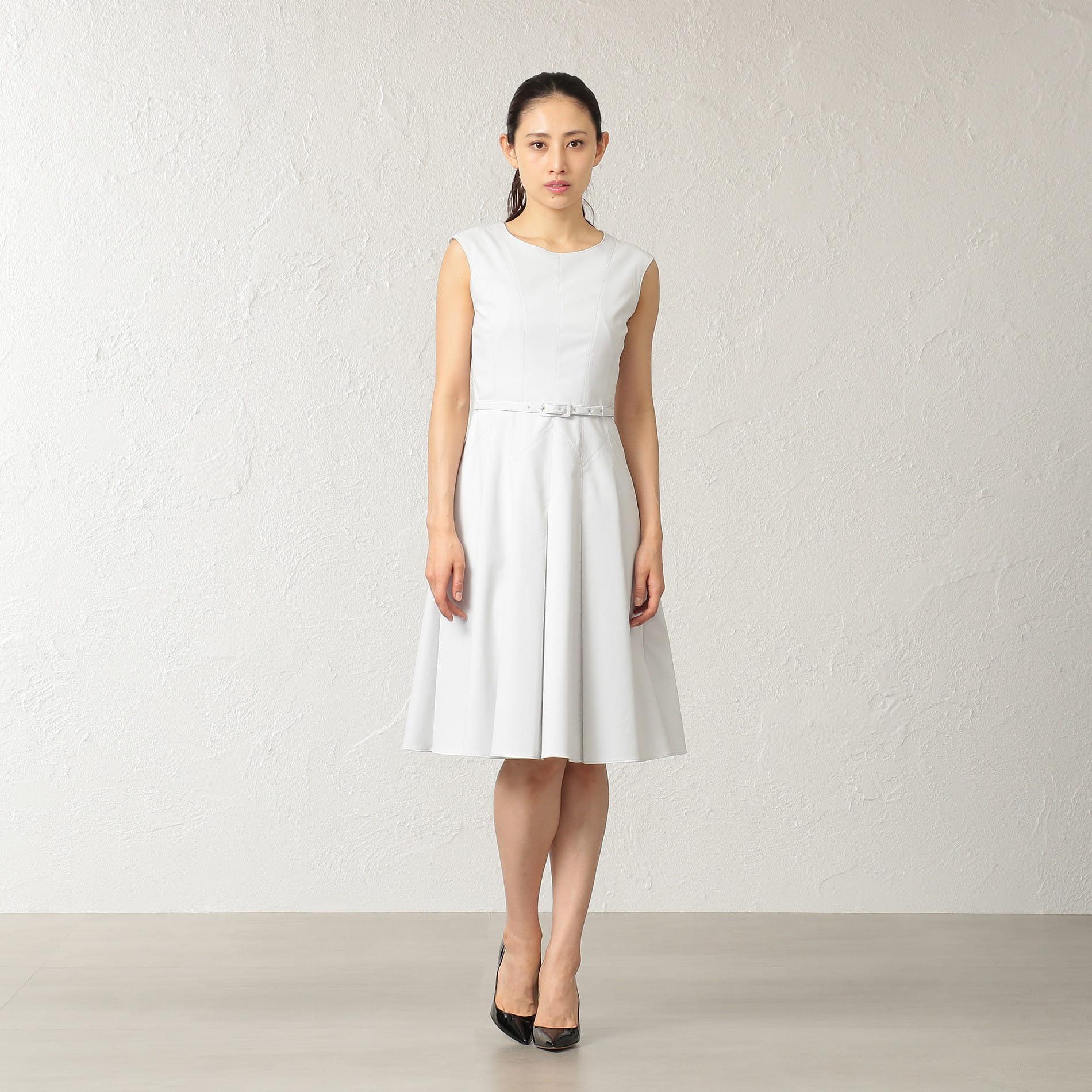 リネンブレンド ドレス