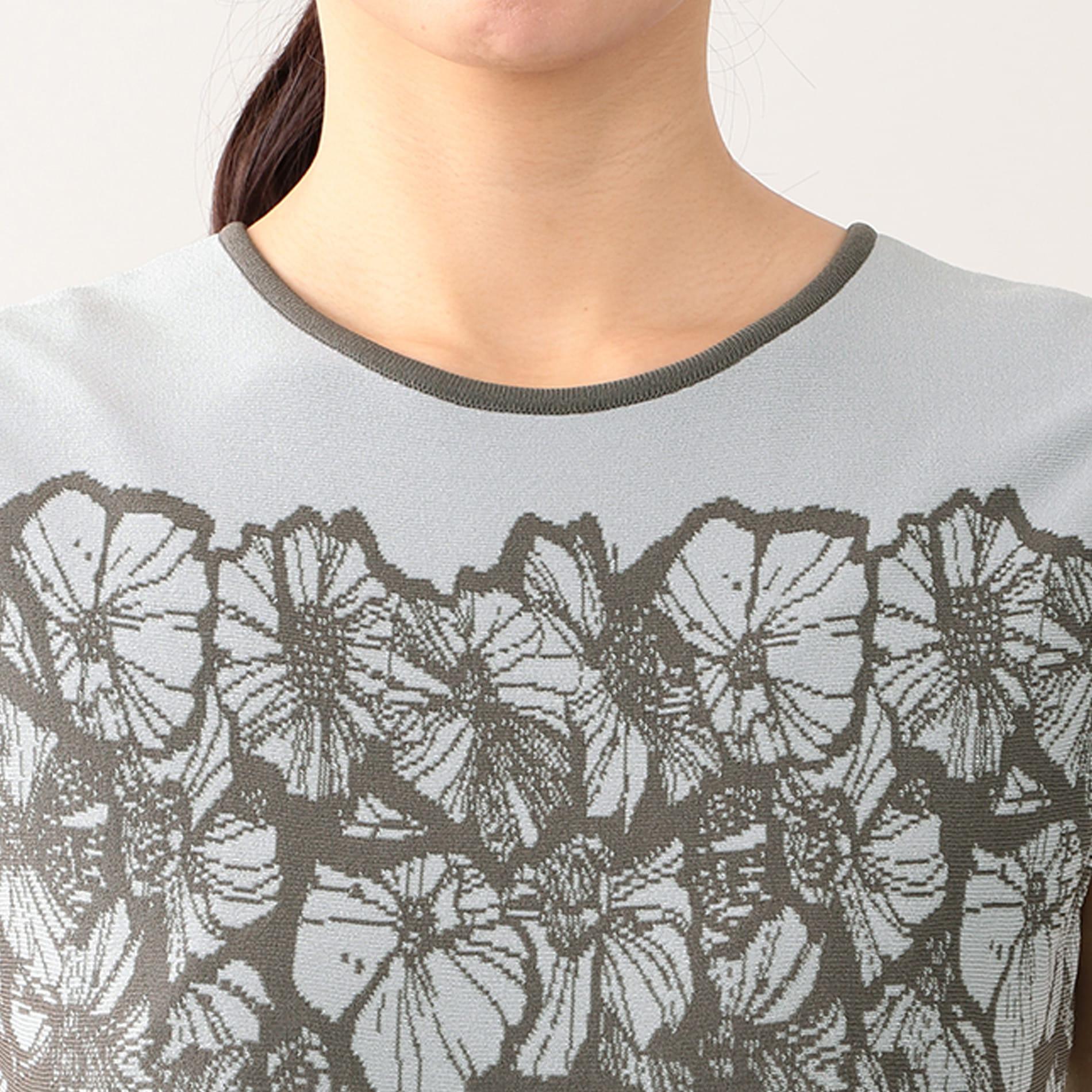【Stina Persson x EPOCA】 フラワージャガード ニットドレス