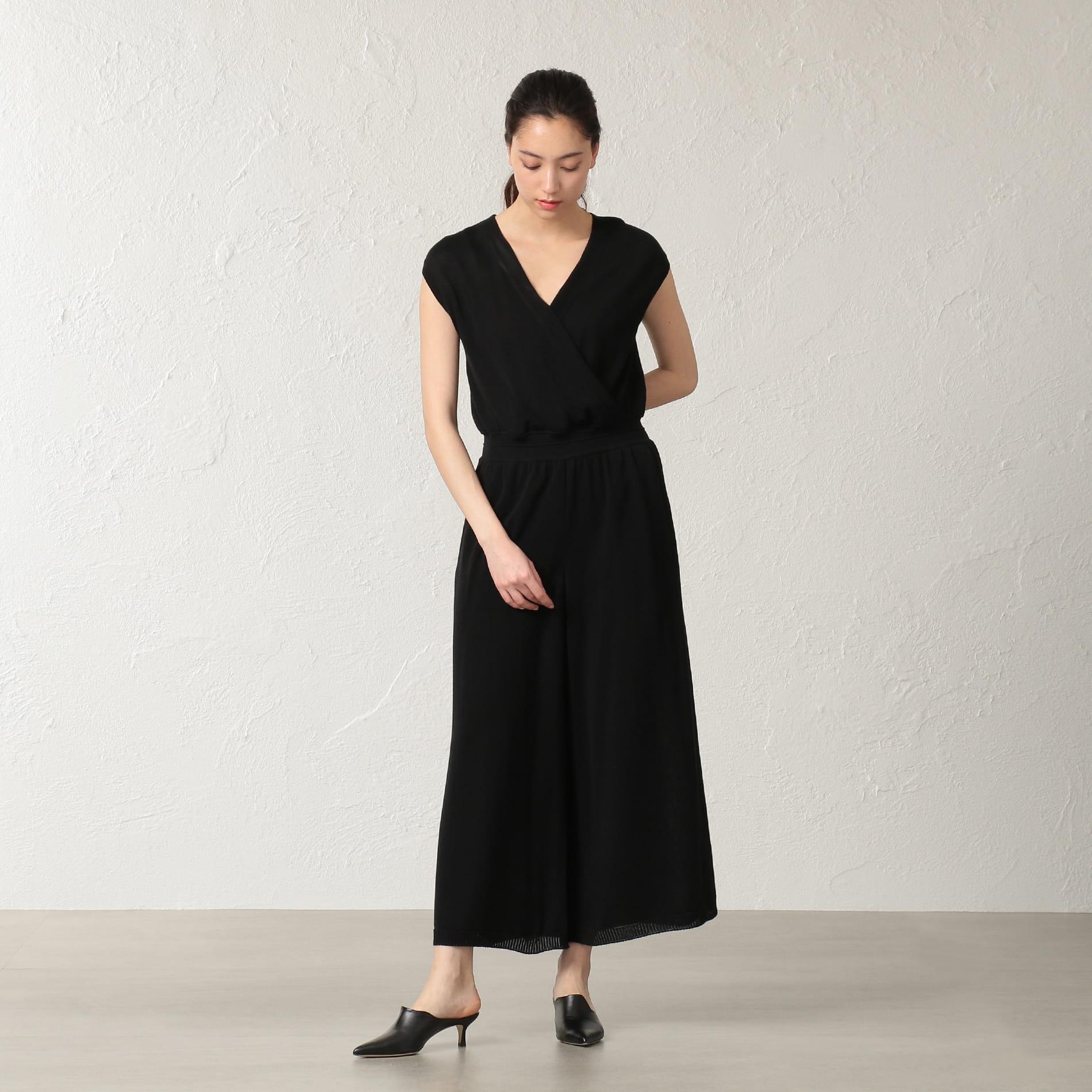 【店舗限定】【 LA MAGLIA IN CASA】 ジャンプスーツニットドレス