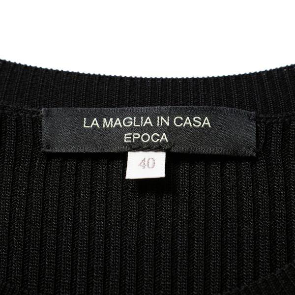 【LA MAGLIA IN CASA】リブ編みアシンメトリードレス