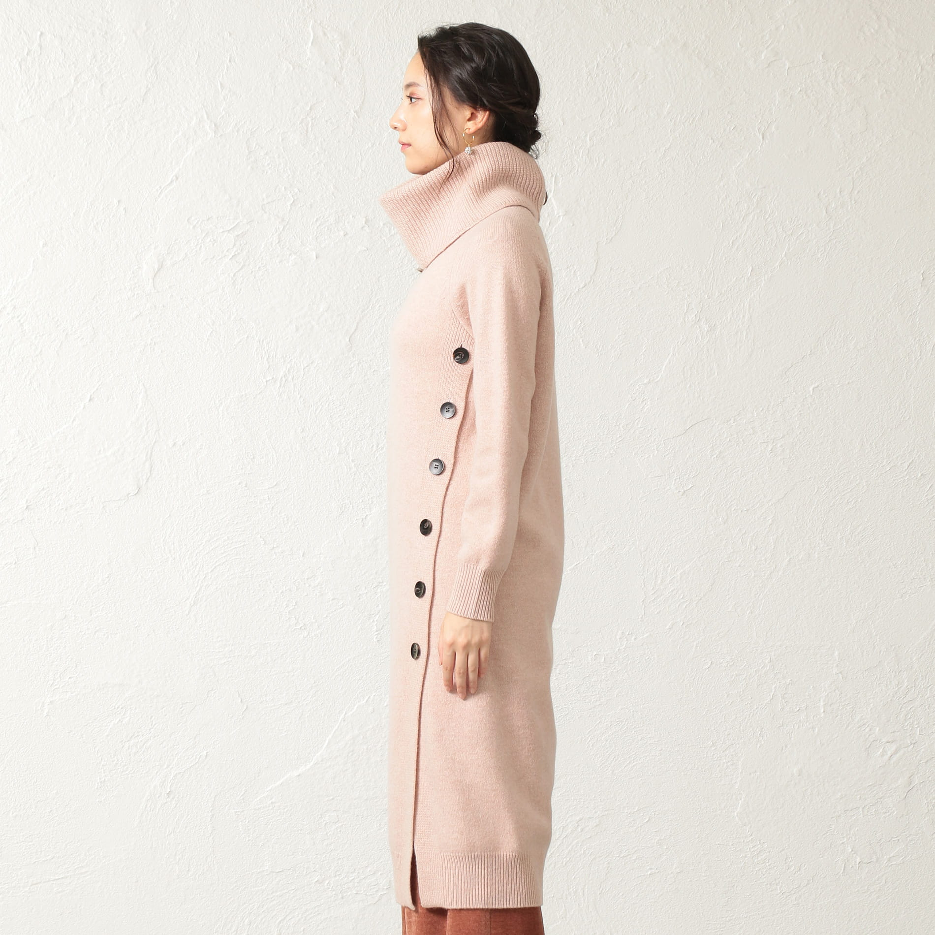 *Marisol12月号掲載*【La Maglia due】スヌード付きニットドレス