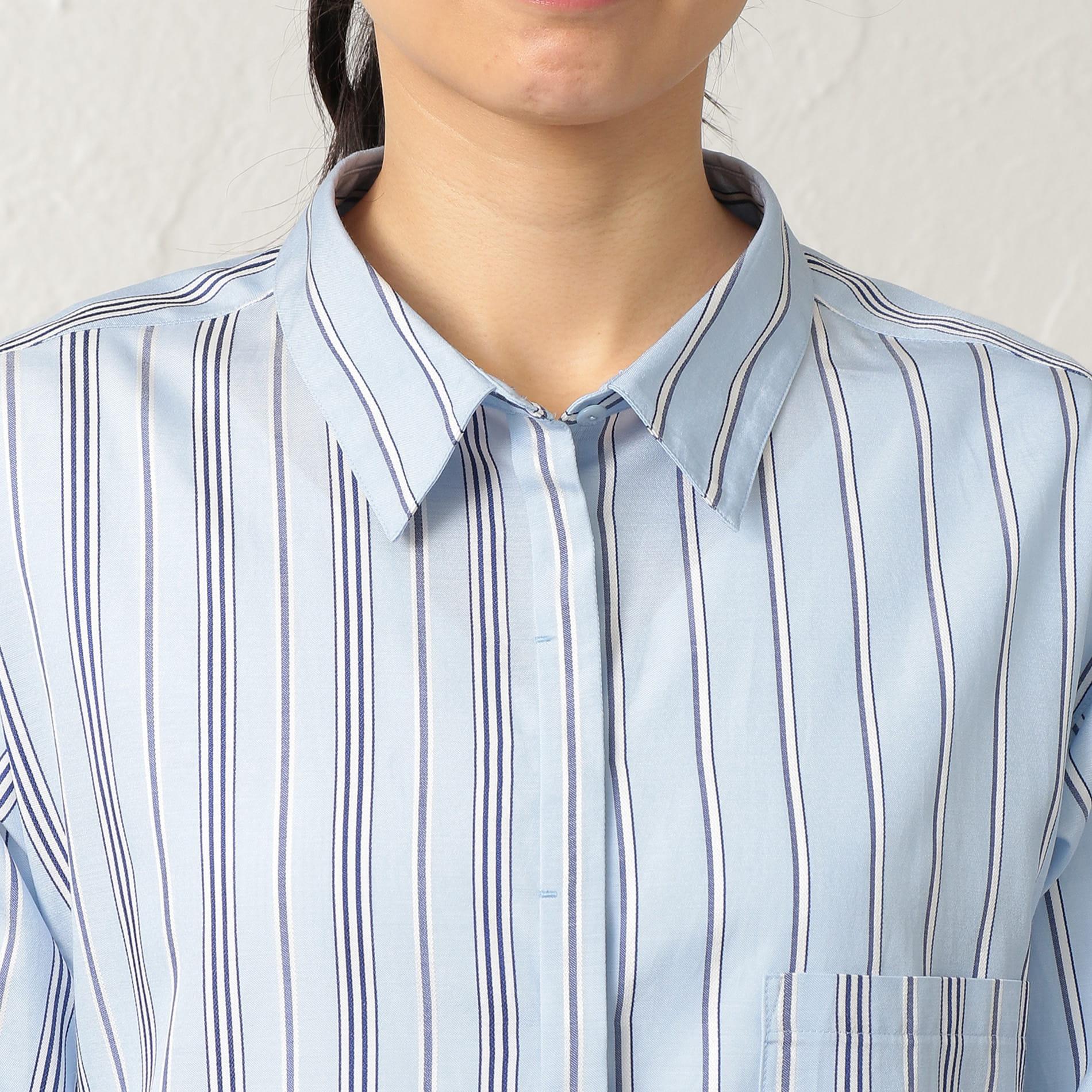 ラスターストライプ ブラウスシャツ