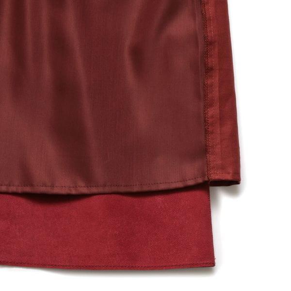 ニットコンビレザースカート