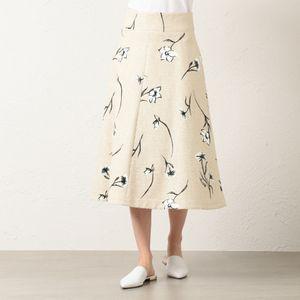 フィオーレピグメントプリント スカート