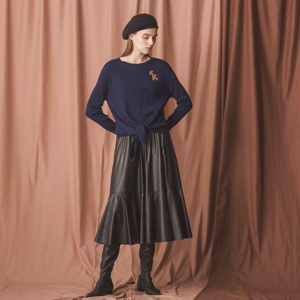シンセティックレザースカート