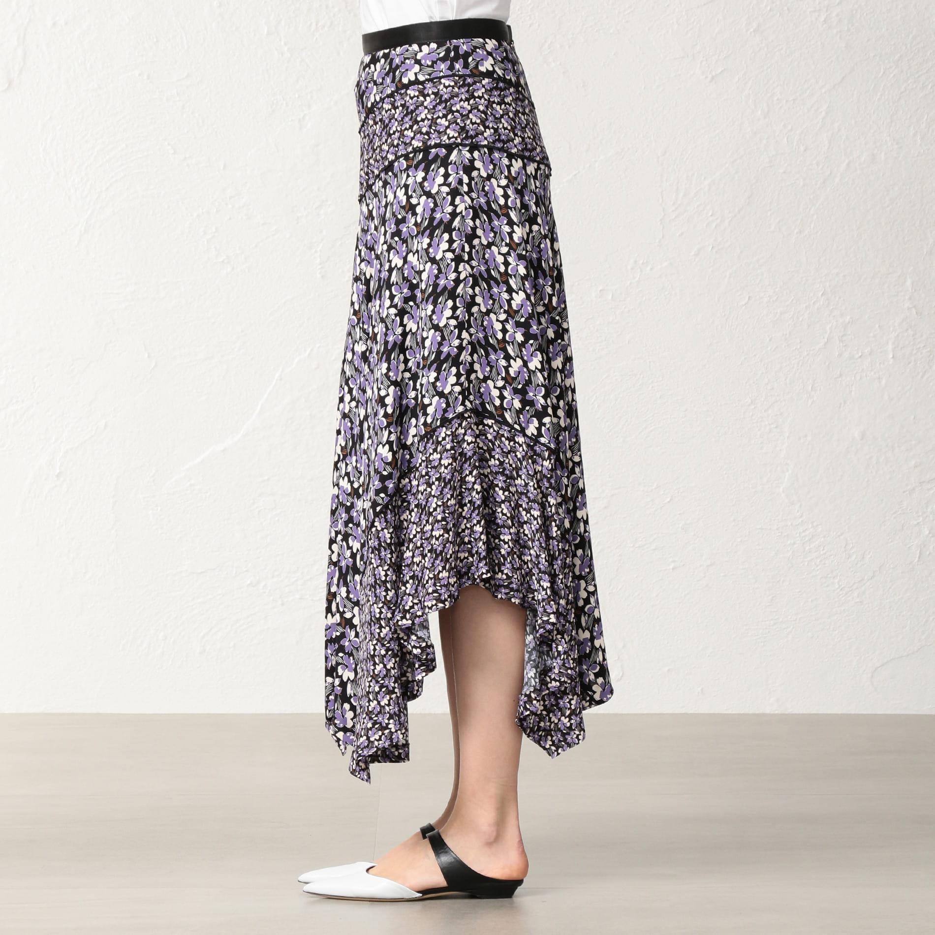 フローラルプリント スカート