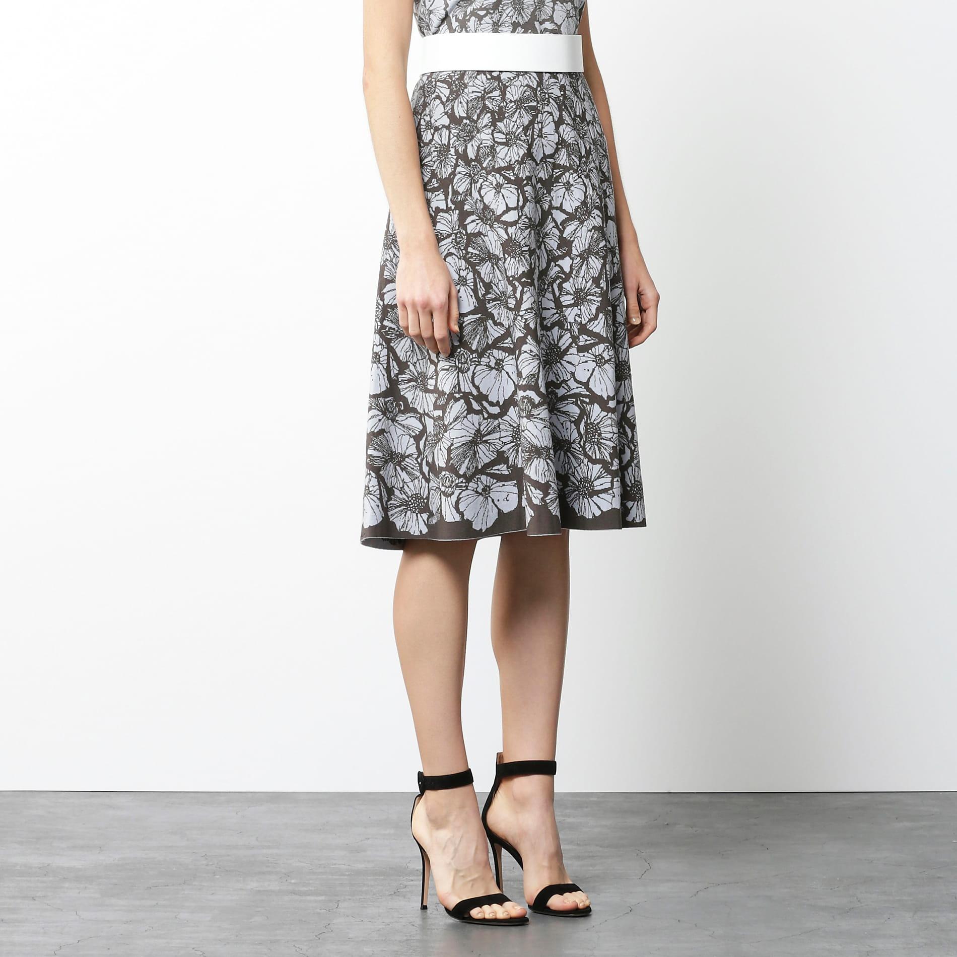 【Stina Persson x EPOCA】 フラワージャガードニットスカート