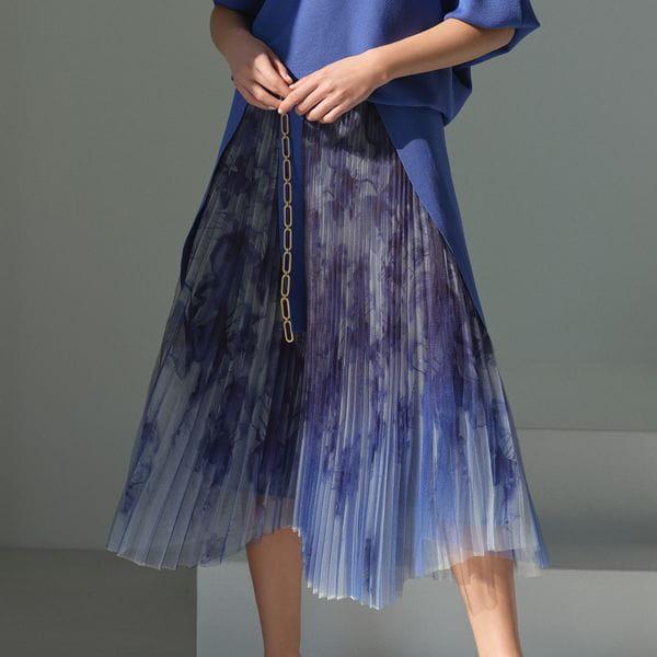 【Stina Persson×EPOCA】プリントプリーツニットスカート