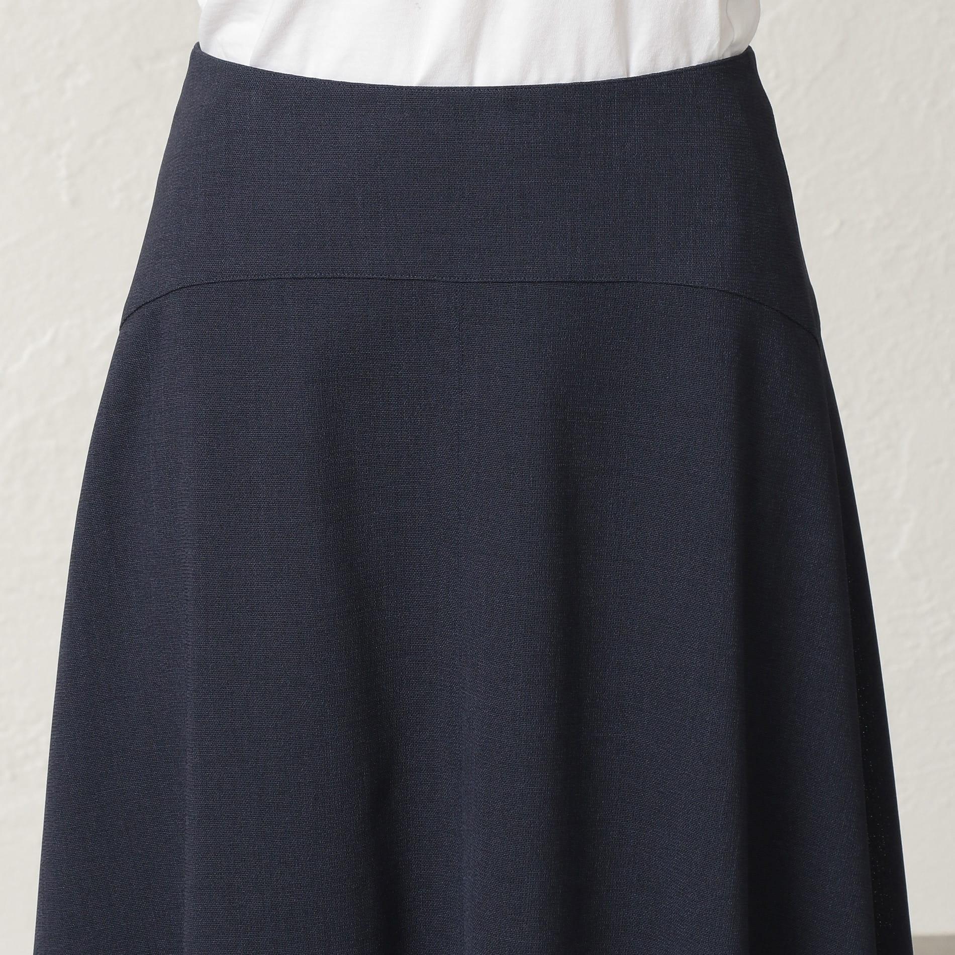 【セットアップ】ストレッチクロス セミフレアスカート