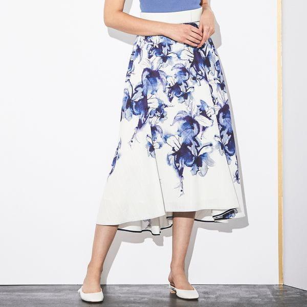 【Stina Persson×EPOCA】グラデーションプリントフレアスカート