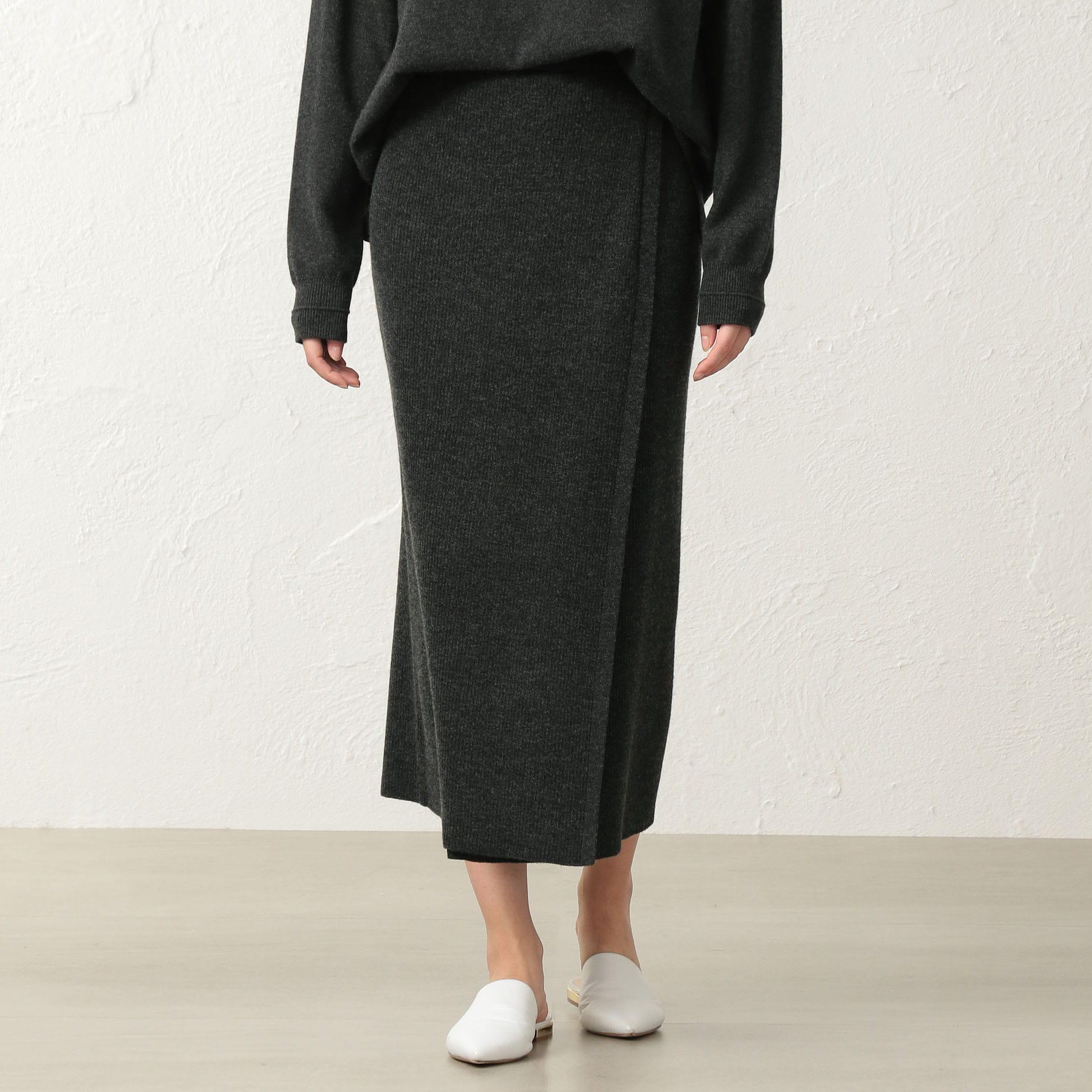 【店舗限定】【LA MAGLIA IN CASA】ニットリブスカート