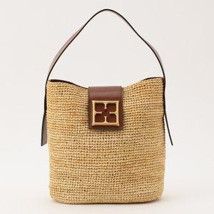◆◆ラフィアロゴハンドバッグ