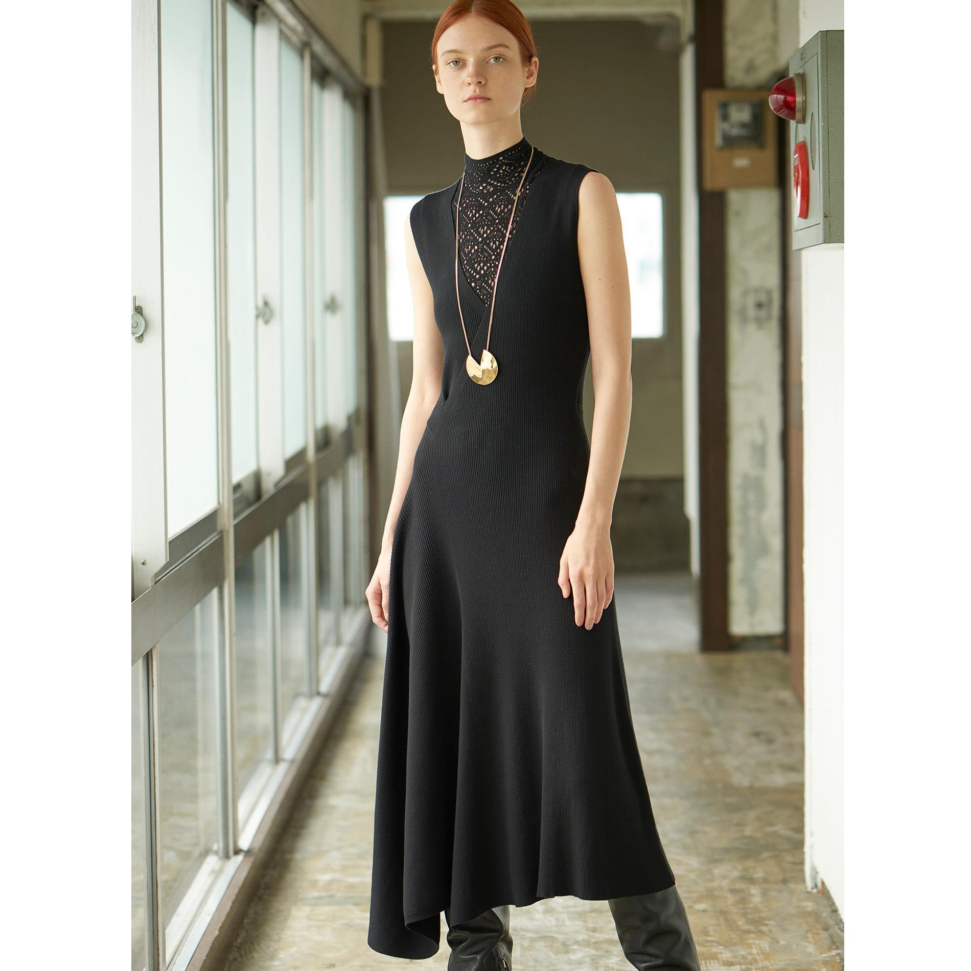 ◆◆【ラマリア】アシンメトリーニットドレス