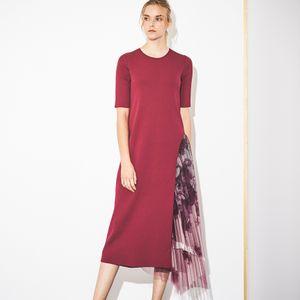 【Stina Persson×EPOCA】プリーツニットプリントドレス