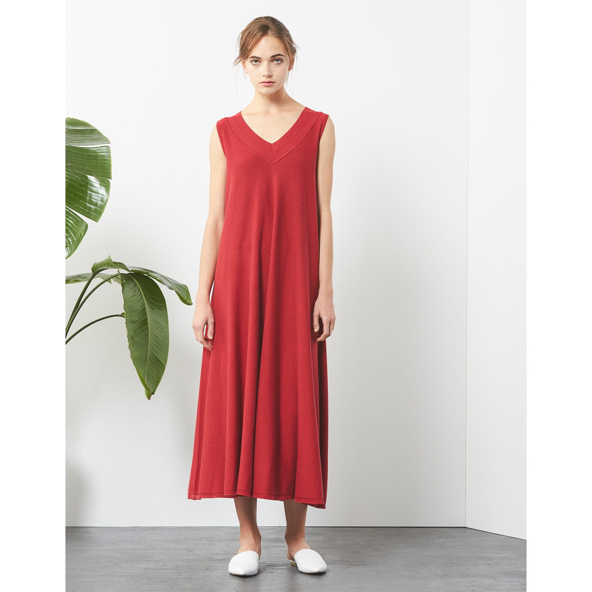 【店舗限定】【 LA MAGLIA IN CASA】 ロングニットドレス