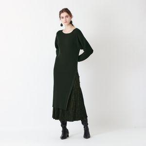 【La maglia】リブニットドレス