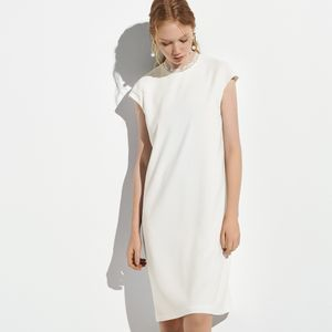 ストレッチクロスサックドレス