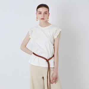 刺繍コンビ カットソー