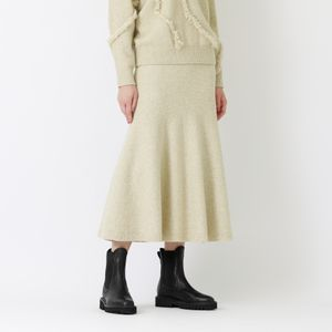 【La maglia due】ニットフレアスカート