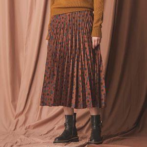 べリスプリントプリーツスカート