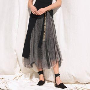 【La maglia】プリーツニットコンビスカート