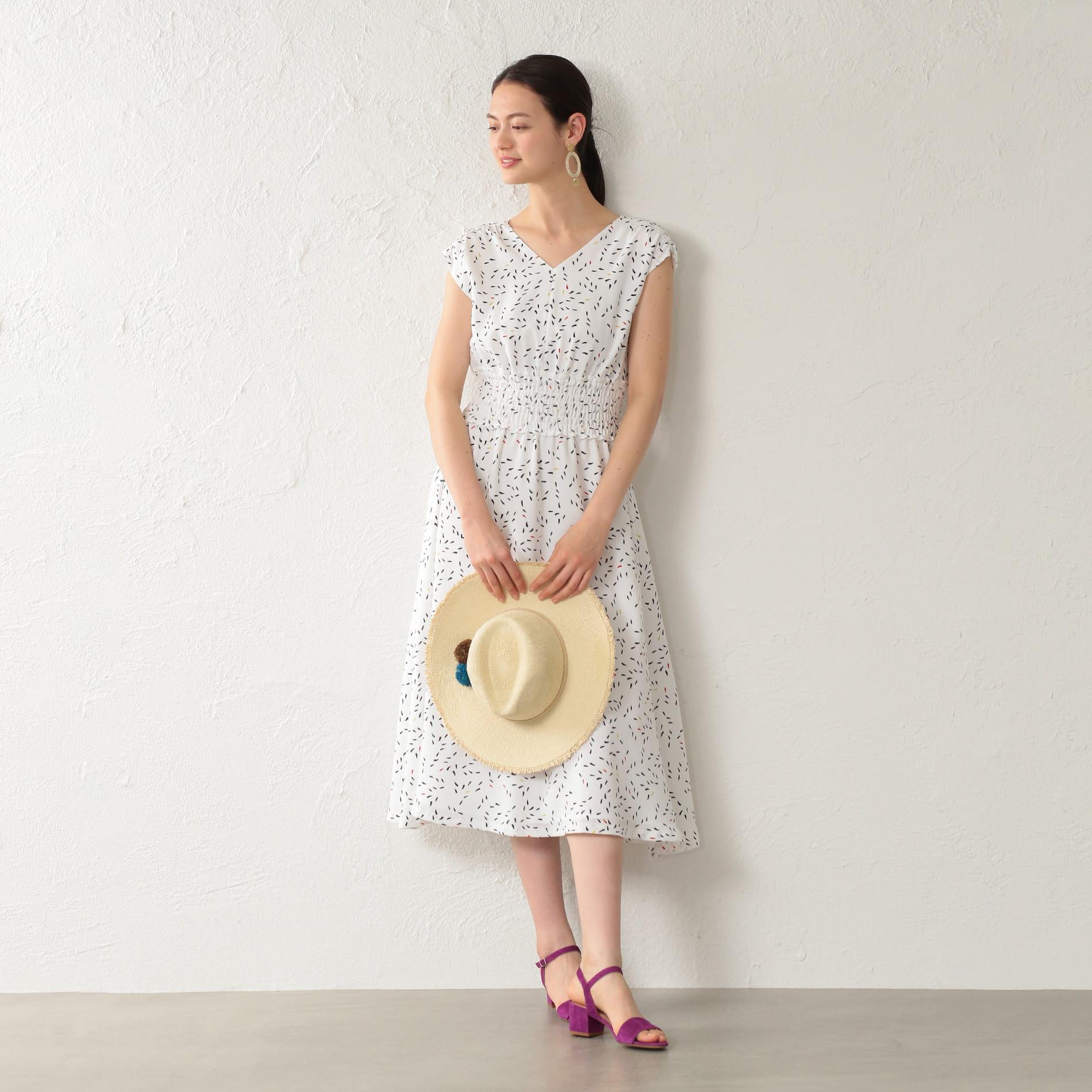 【E_EPOCA THE SHOP】ドットプリントドレス