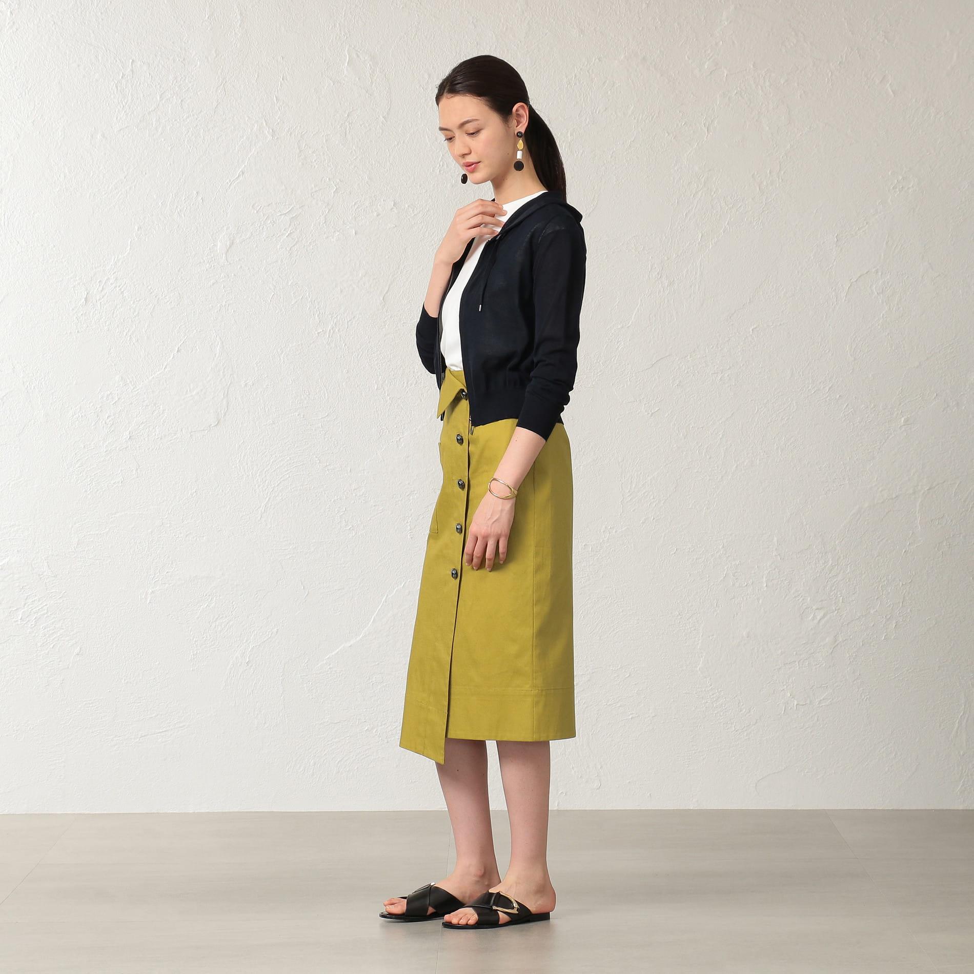 【KAME KYOKO×EPOCA THE SHOP】フロントボタンラップスカート